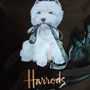 Harrods of London Patent Leather Tote Bag.